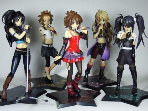 k-on Death Devil Figure Set Banpresto Ichiban Kuji lottery UK k-on figures k-on figure set k-on Yui figures k-on azusa nakano figures animetal anime figures