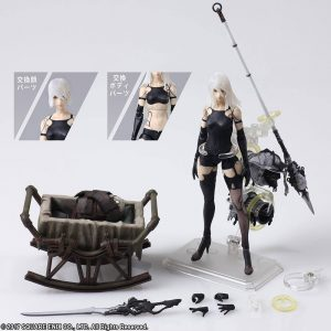 NieR Automata Bring Arts Action Figure A2 (YoRHa Type A No. 2) Square Enix UK Nier Automata statues UK Nier automata figures UK animetal nier automata merch UK