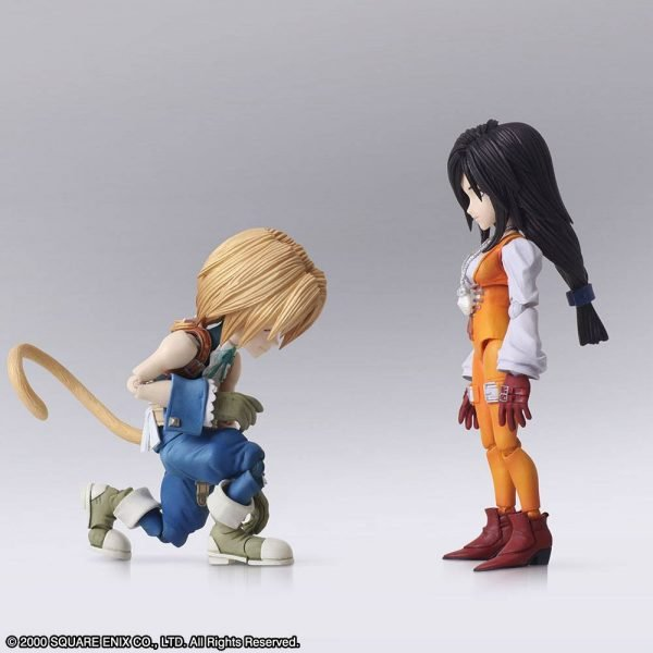Final Fantasy IX Zidane Tribal & Garnet Til Alexandros XVII Action Figures Square Enix UK Final Fantasy IX Bring Arts Action Figures Zidane Tribal & Garnet Til Alexandros XVII 12 - 17cm
