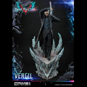 Devil May Cry 5 Vergil Statue Prime 1 Studio 1/4 Scale Limited Edition UK Devil May Cry statues UK Devil May cry limited edition vergil resin statues UK Animetal