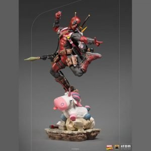 Marvel Comics Deadpool Statue Deluxe BDS Art 1/10 Scale Iron Studios UK Marvel figures UK Deadpool figures UK Marvel comics merchandise UK Animetal