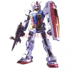 Gundam Perfect Grade: RX-78-2 CHROME PLATED Model Kit 1/60 Limited Bandai UK PG gundam model kits UK animetal perfect grade gundam model kits