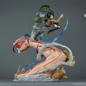 Attack on Titan Levi vs. Female Titan Resin Statue 1/6 Scale Limited Oniri Creations UK attack on titan levi resin statue oniri creations UK Animetal