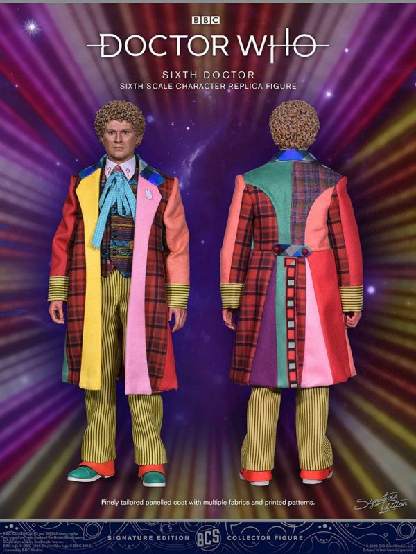 Doctor Who Collector Figure Series Action Figure 1/6 6th Doctor (Colin Baker) Limited Edition 30 cm BIG Chief Studios doctor who clin baker statue UK Animetal