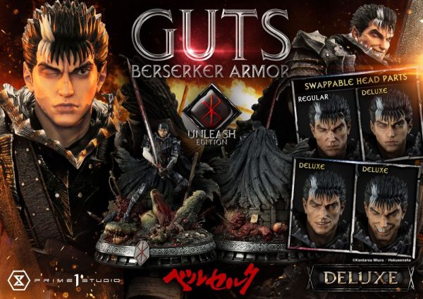 Berserk Statue 1/4 Guts Berserker Armor Unleash Edition Deluxe Version 91 cm Prime 1 Studio UK berserk guts statue prime 1 studio UK Animetal