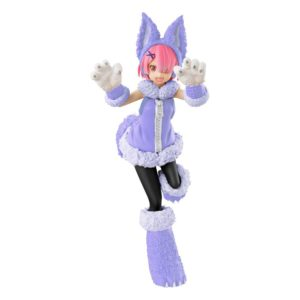 Re:ZERO SSS PVC Statue Ram The Wolf and the Seven Kids 21 cm FuRyu UK rezero ram wolf figure furyu UK re zero ram wolf figure UK re:zero anime figures UK Animetal
